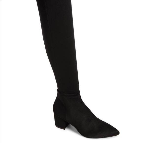 74ab9bd48b5 Steve madden shoes brinkley otk stretch boot black suede poshmark jpg  580x580 Madden brinkley